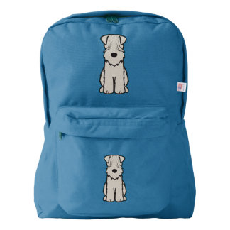 Soft Coated Wheaten Terrier Dog Cartoon Backpack