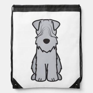 Soft Coated Wheaten Terrier Dog Cartoon Backpacks
