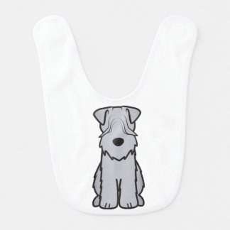 Soft Coated Wheaten Terrier Dog Cartoon Bib