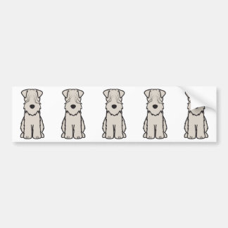 Soft Coated Wheaten Terrier Dog Cartoon Bumper Sticker
