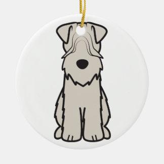 Soft Coated Wheaten Terrier Dog Cartoon Christmas Ornament