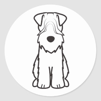 Soft Coated Wheaten Terrier Dog Cartoon Classic Round Sticker