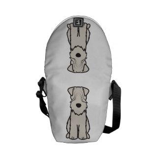 Soft Coated Wheaten Terrier Dog Cartoon Courier Bag