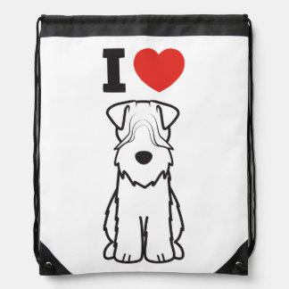 Soft Coated Wheaten Terrier Dog Cartoon Drawstring Backpack