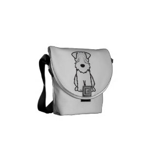Soft Coated Wheaten Terrier Dog Cartoon Courier Bags