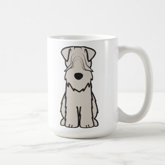 Soft Coated Wheaten Terrier Dog Cartoon Basic White Mug