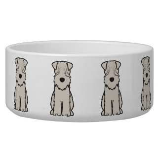 Soft Coated Wheaten Terrier Dog Cartoon Pet Bowls