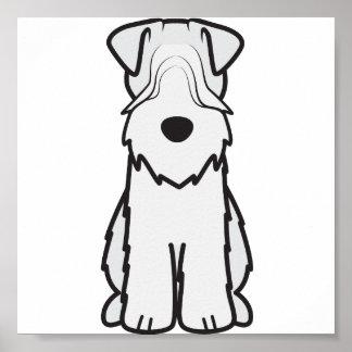 Soft Coated Wheaten Terrier Dog Cartoon Print
