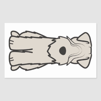 Soft Coated Wheaten Terrier Dog Cartoon Rectangular Sticker