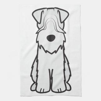 Soft Coated Wheaten Terrier Dog Cartoon Tea Towel