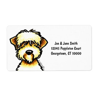 Soft Coated Wheaten Terrier Face Shipping Label