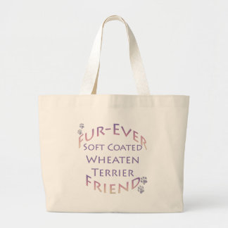Soft Coated Wheaten Terrier Furever Friend Large Tote Bag