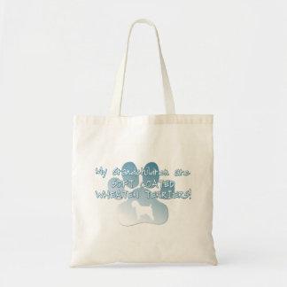 Soft Coated Wheaten Terrier Grandchildren Budget Tote Bag