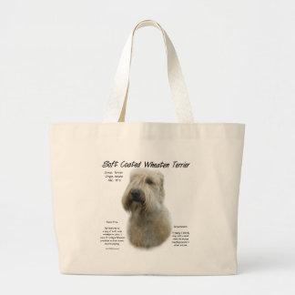Soft Coated Wheaten Terrier History Design Jumbo Tote Bag