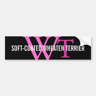 Soft-Coated Wheaten Terrier Monogram Bumper Sticker