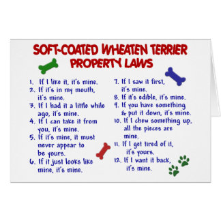 SOFT-COATED WHEATEN TERRIER Property Laws 2 Card