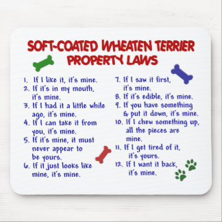 SOFT-COATED WHEATEN TERRIER Property Laws 2 Mouse Mats