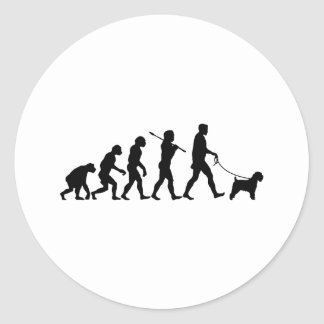 Soft Coated Wheaten Terrier Round Sticker