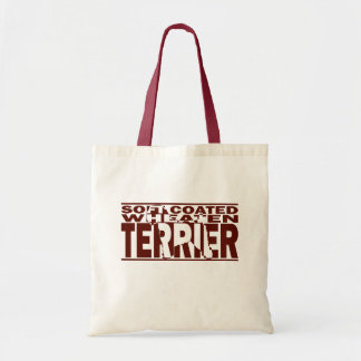 Soft Coated Wheaten Terrier Silhouette Budget Tote Bag