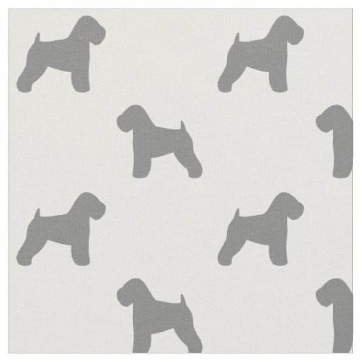 Soft Coated Wheaten Terrier Silhouettes Pattern Fabric