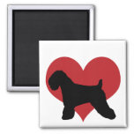 Soft Coated Wheaten Terrier Square Magnet