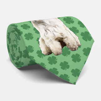 Soft Coated Wheaten Terrier St. Patrick's Day Tie