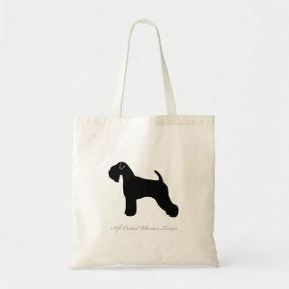 Soft Coated Wheaten Terrier Tote Bag (black)