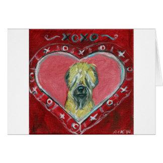 Soft Coated Wheaten Terrier Valentine Card