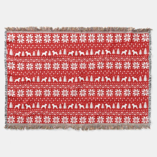 Soft Coated Wheaten Terriers Christmas Pattern Throw Blanket