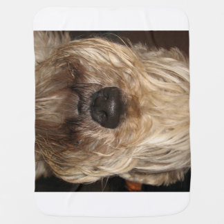 soft coated wheaton terrier.png baby blanket