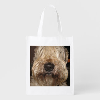 soft coated wheaton terrier.png reusable grocery bag