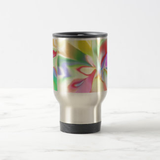 Soft Colored Rainbow Stainless Steel Travel Mug