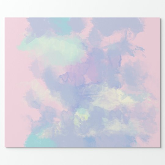 soft colours watercolor pink blue wrapping paper