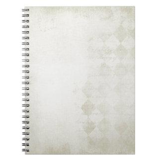 soft Cream Diamond Pattern Spiral Notebooks