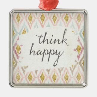 Soft Deco V | Think Happy Christmas Ornament