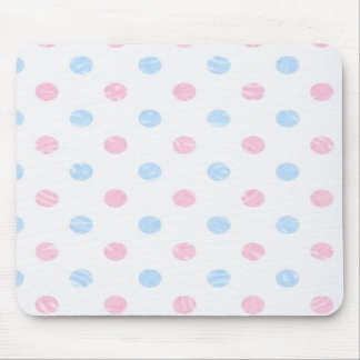soft dotted, pink blue mouse pads