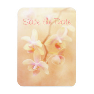 Soft & Faded Orchids Save the Date Magnet