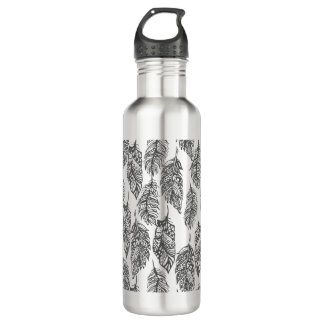 Soft Feathers Doodle 710 Ml Water Bottle