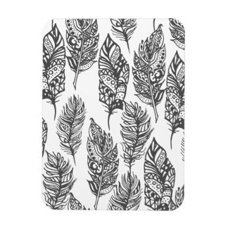 Soft Feathers Doodle Magnet