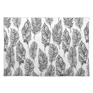 Soft Feathers Doodle Placemat