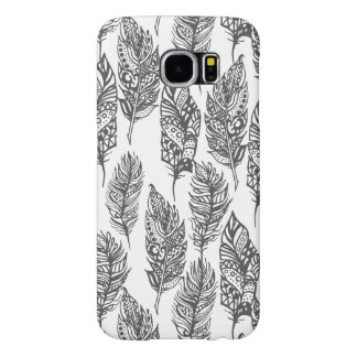 Soft Feathers Doodle Samsung Galaxy S6 Cases