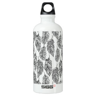 Soft Feathers Doodle Water Bottle