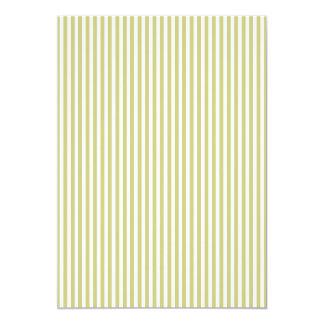 Soft Fern Green And White Cabana Stripe Pattern 13 Cm X 18 Cm Invitation Card