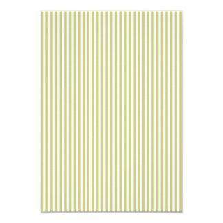 Soft Fern Green And White Cabana Stripe Pattern 9 Cm X 13 Cm Invitation Card
