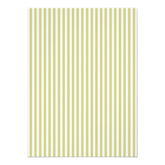 Soft Fern Green And White Cabana Stripe Pattern 14 Cm X 19 Cm Invitation Card