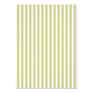 Soft Fern Green And White Cabana Stripe Pattern 11 Cm X 16 Cm Invitation Card