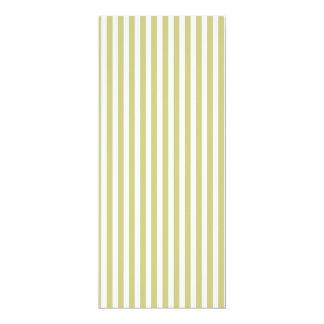 Soft Fern Green And White Cabana Stripe Pattern 10 Cm X 24 Cm Invitation Card