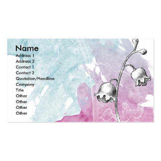 Soft Floral Business Cards
