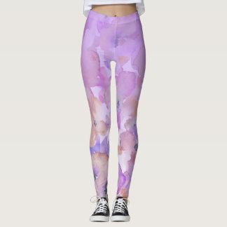 *~* Soft Floral Feminine Watercolor Ombre Leggings