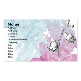 Soft Floral Pack Of Standard Business Cards